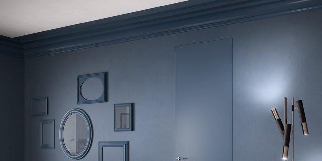Una parete blu in casa: scelta d'effetto, anche da ottenere con un semplice fai da te
