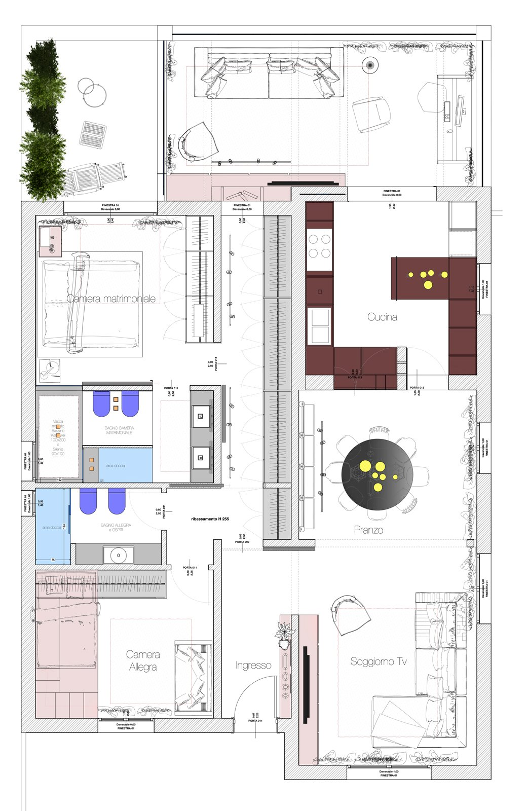 Planimetria Casa Con Misure bagno in camera: soluzioni d'effetto - cose di casa