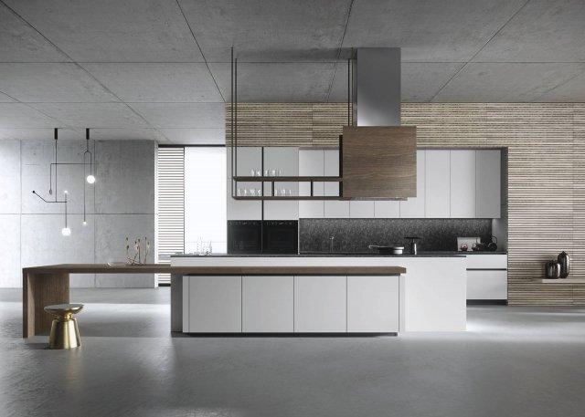 snaidero Look-grigio-urano-3 cucina con isola