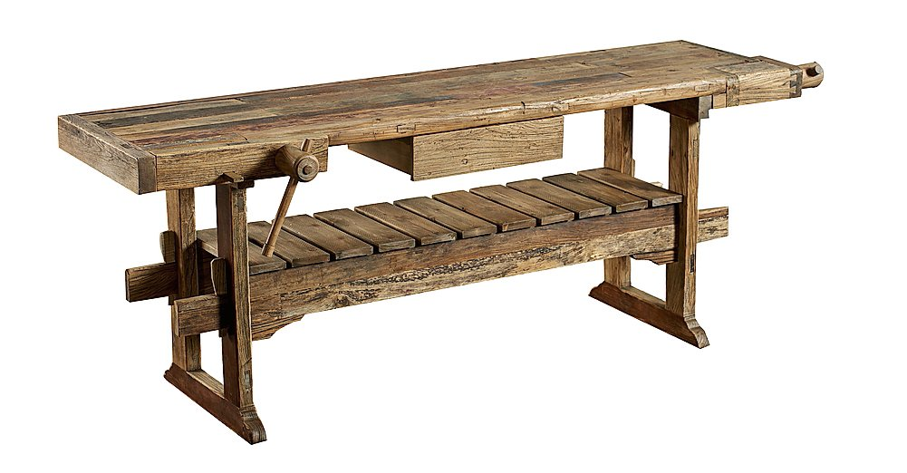 85 mq con spunti industrial e idee di recupero creativo cose di casa - Tavolo da lavoro in legno ...
