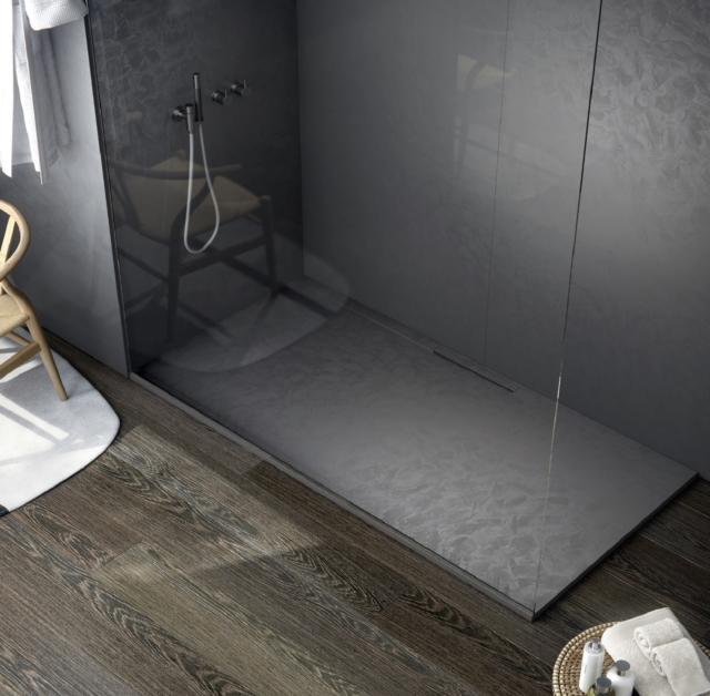 2 fiora trace finitura venezia nero salone del bagno ambiente doccia
