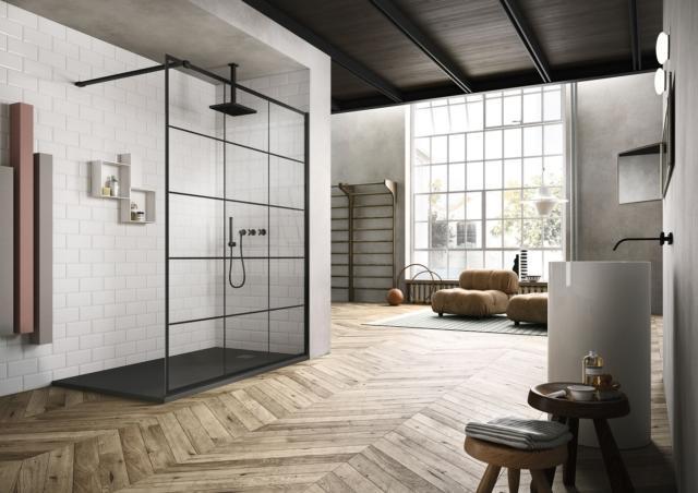 6 vismaravetro frame salone del bagno ambiente doccia