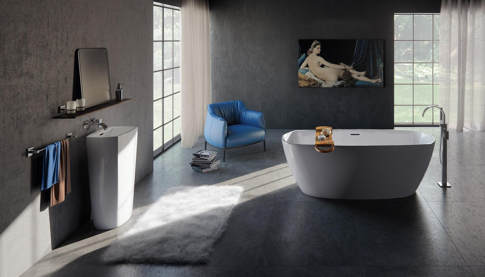 Vasca Da Bagno Vetroresina : Le vasche da bagno non sono realizzate soltanto in acrilico