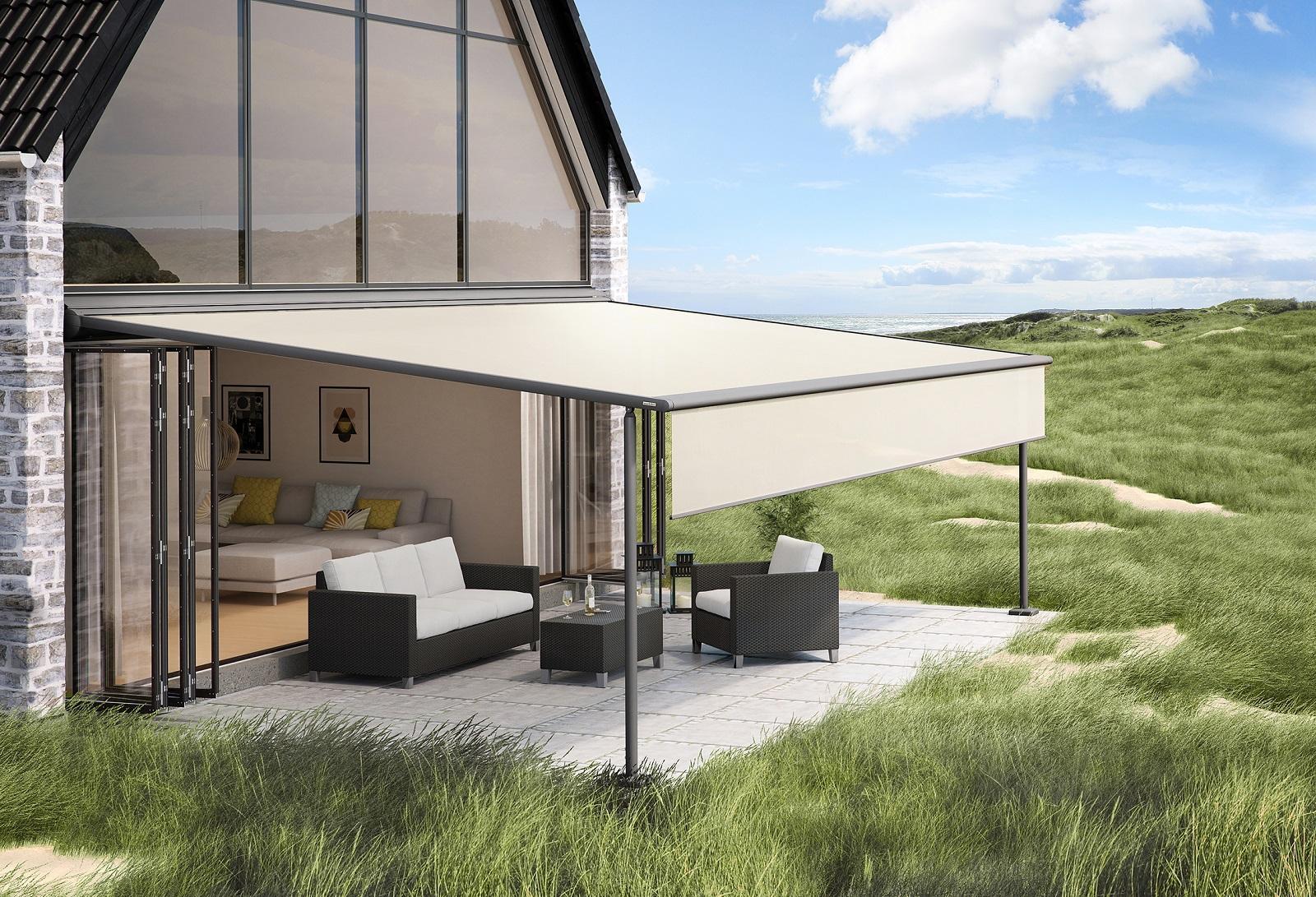 Gazebo Con Lamelle Orientabili le moderne pergole riparano dal sole e proteggono da vento e
