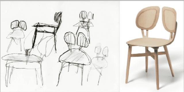 De Lucchi firma Filla, la sedia in legno che interpreta la natura