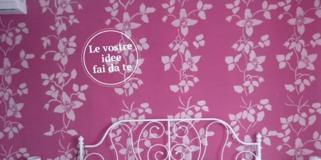 La parete a stencil, effetto tappezzeria