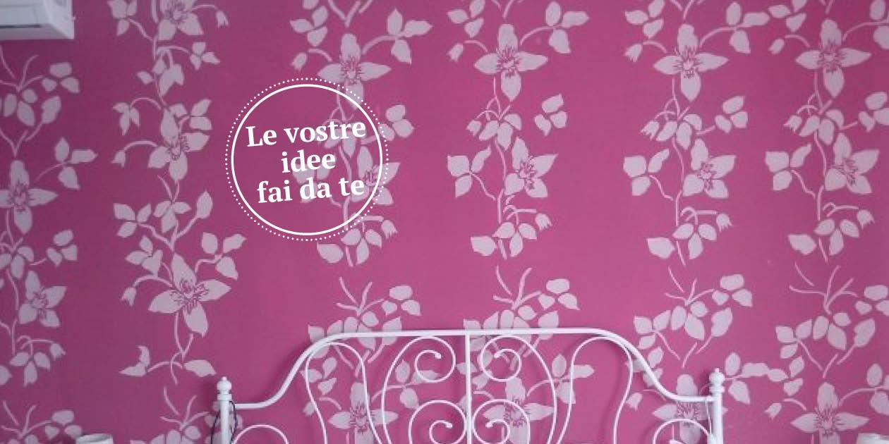 La parete a stencil effetto tappezzeria cose di casa for Stencil per pareti cucina