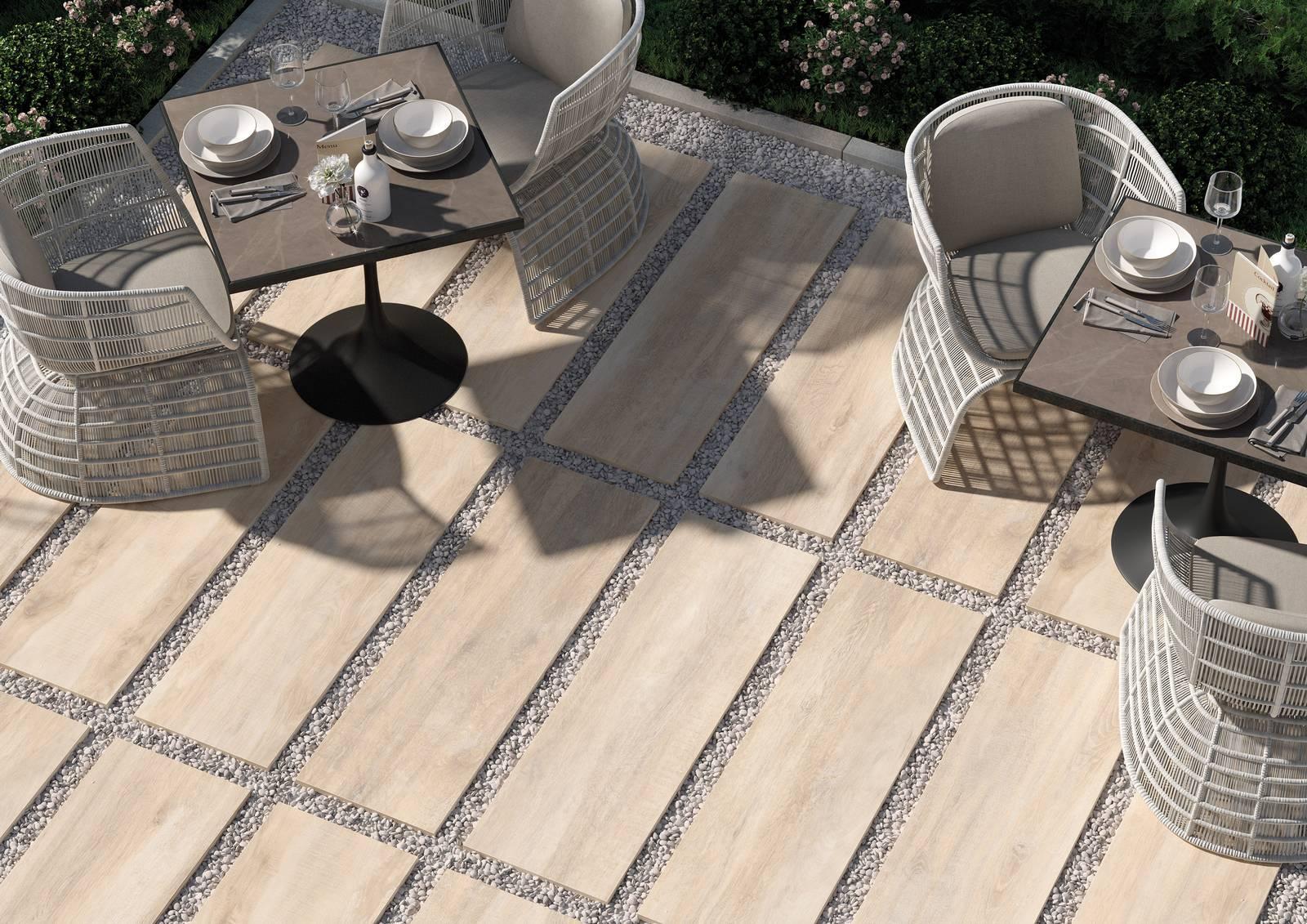 Outdoor di spessore: il gres porcellanato effetto legno di ceramica