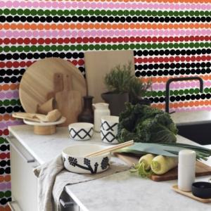 La collezione Marimekko con rivestimenti innovativi e accattivanti che si rifanno alla filosofia del brand finlandese.