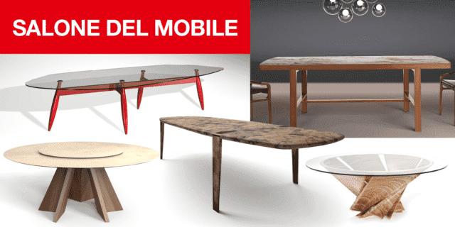 I nuovi tavoli con finiture sempre un po' speciali. Dal marmo alle resine