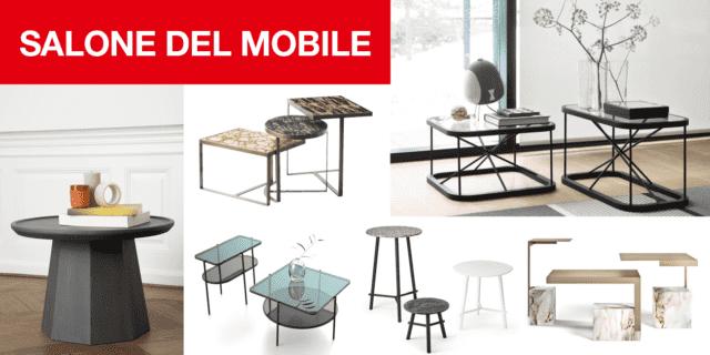 """""""Famiglie"""" di tavolini per il soggiorno: i nuovi modelli al Salone del Mobile 2018"""