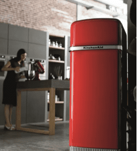 Frigorifero a due porte a libera installazione Iconic Fridge di Kitchen Aid (www.kitchenaid.it)
