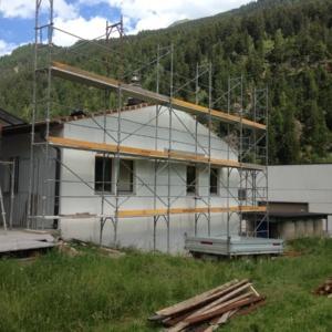 Sopraelevazione in legno di un edificio in Svizzera realizzata da Vario Haus - Fasi di lavoro