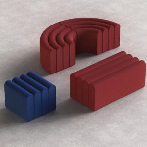 Arkad di Zilio A&C, design Note Design Studio, è il pouf con un volume scultoreo formato da una sequenza di morbidi archi. I diversi moduli disponibili permettono di combinarli tra loro per dare vita a sedute di grandi dimensioni. www.zilioaldo.it
