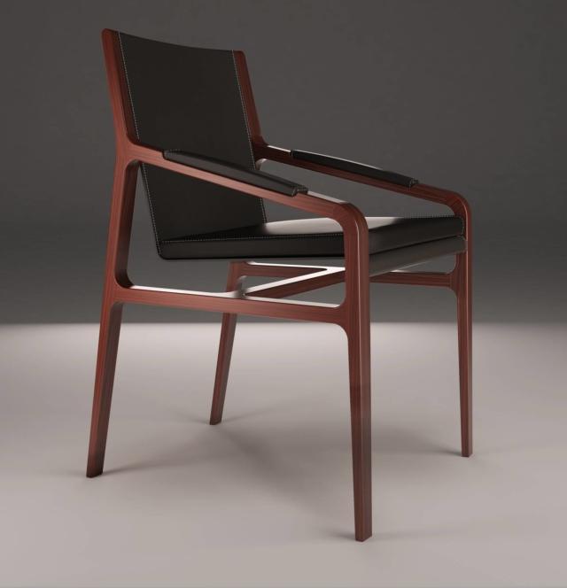 Margot relax di Alivar, design Giuseppe Bavuso, è la sedia con la struttura in legno di noce o di rovere. La seduta è imbottita in piuma. www.alivar.it