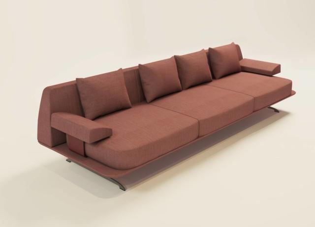 Trays di Baleri Italia, design P+F Architetti, è il divano tre posti con una linea che si rifà agli eleganti modelli degli Anni Cinquanta. Le grandi cuscinature creano un piacevole contrasto con la sottile struttura di sostegno.  www.baleri-italia.it