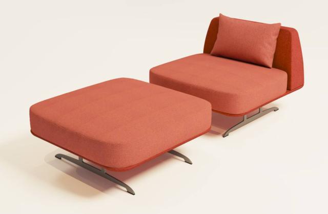 Trays di Baleri Italia, design P+F Architetti, è la poltrona con una forma asciutta e squadrata; la sottile struttura di sostegno è dotata di un elemento a vassoio che supporta la seduta e lo schienale.  www.baleri-italia.it