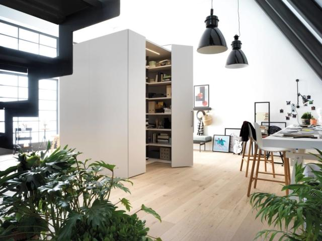 caccaro Sistema Freedhome_01 armadio Salone 2018
