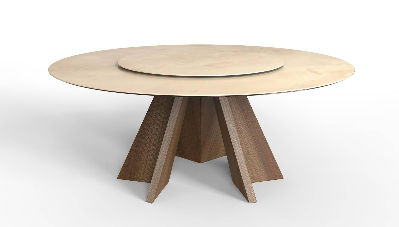 I nuovi tavoli con finiture sempre un po 39 speciali dal for Calligaris tavolo rotondo