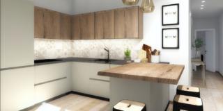 Progetto in 3D: ricavare la cucina a vista limitando i costi