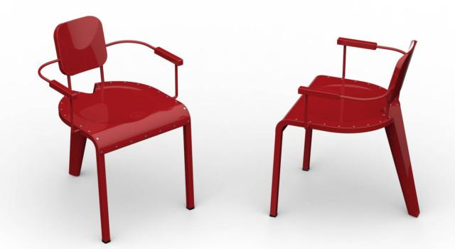 Rock di Da a, design Marc Sadler, è la sedia interamente realizzata in alluminio trattato e verniciato, caratterizzata da tecniche di lavorazione complesse; può essere utilizzata sia all'interno sia all'esterno e può essere impilata. Ha tre gambe e la seduta è rivettata al telaio; è disponibile con o senza braccioli. www.daaitalia.com