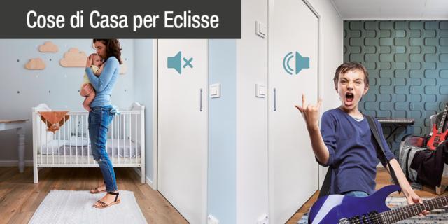 Porte a scomparsa: l'isolamento acustico con Eclisse Acoustic 38 dB