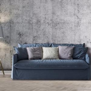 Clarke XL di Milano Bedding, è il divano letto nella nuova versione extra large che offre una seduta con una maggiore profondità; si trasforma in letto con una semplice rotazione dello schienale. Il rivestimento a volant con cuciture a vista lo rende ricercato e informale nello stesso tempo; è completamente sfoderabile e lavabile. www.milanobedding.it
