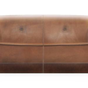 Furrow Sofa di Natuzzi Italia, design Marcel Wanders, è il divano dalla forma compatta e arrotondata che ricorda un guscio; è rivestito in pelle vintage nelle tonalità calde della terra. www.natuzzi.it