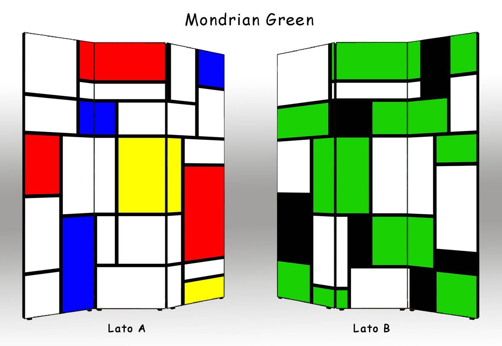 Interesting Paravento Spidersell Italia Mondrian Green With Paravento  Economico