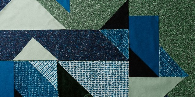 Tappeto patchwork fai da te