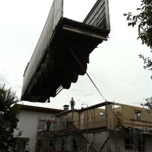 Sopraelevazione in legno di una casa unifamiliare in Italia realizzata da Vario Haus