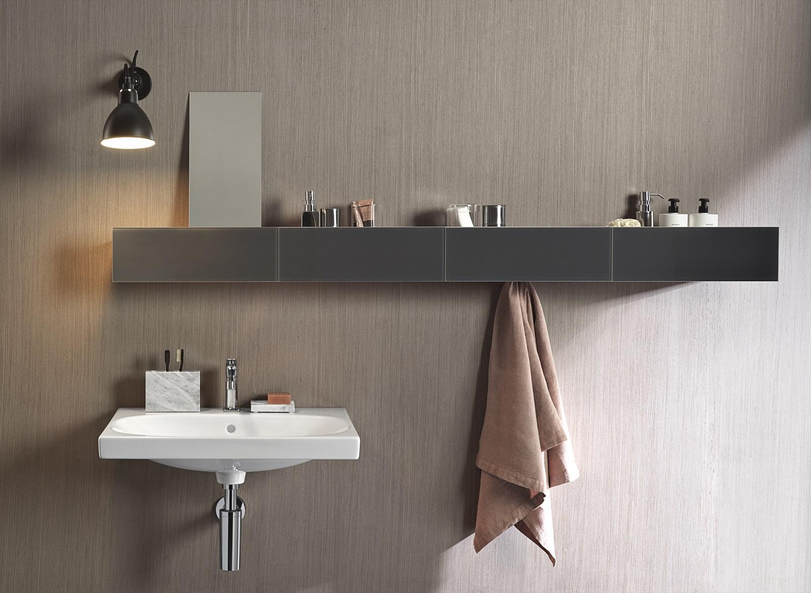 Forme geometriche per gli accessori bagno al salone del for Accessori per bagno