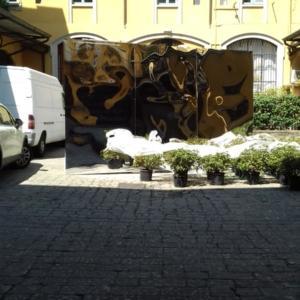 Il cortile di Via Mortara 4