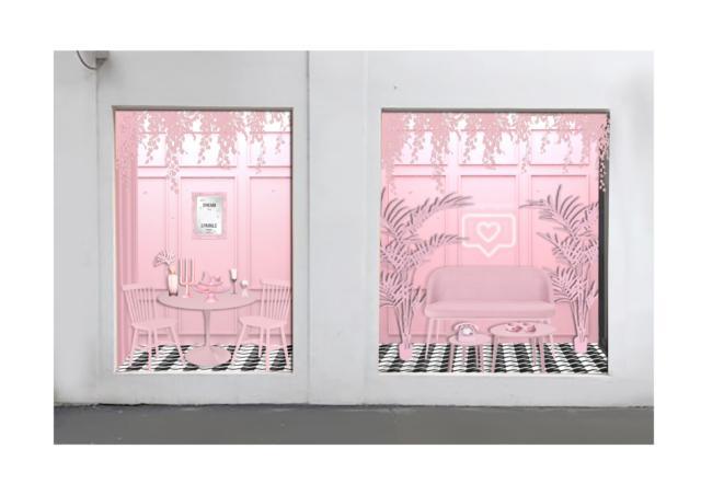 DesignByGemini_Millennial Pink Room_Art Box
