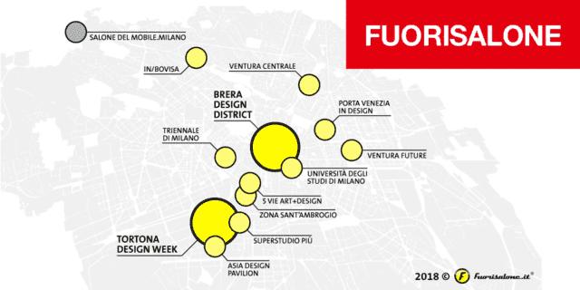 Milano Design Week: il Fuorisalone e i percorsi 2018