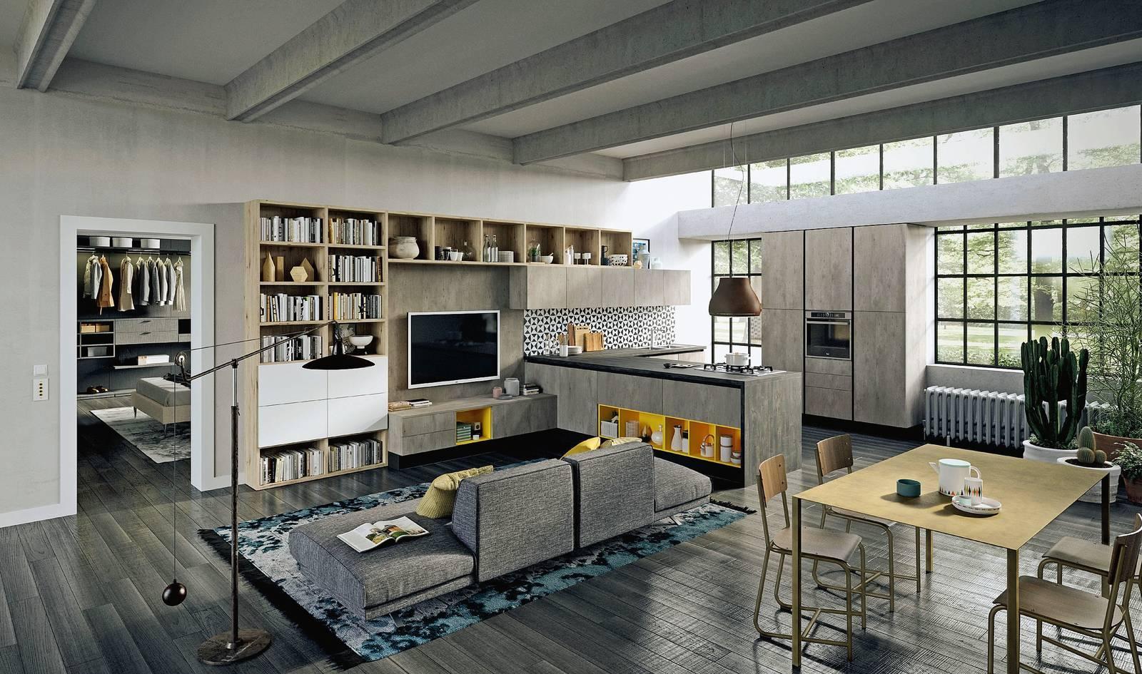 Cucina In Salotto.Progetti 3 Modi Di Vivere La Cucina Open Space