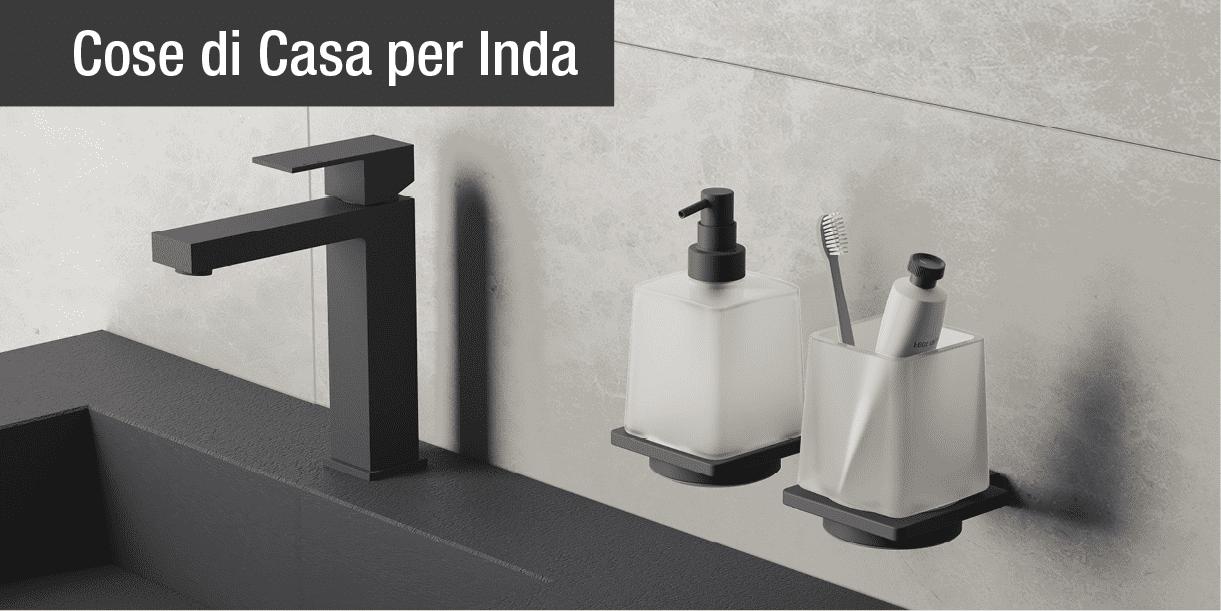 I nuovi accessori bagno firmati inda cose di casa for Accessori bagno inda