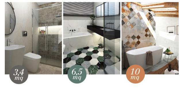 Progetti per il bagno moderni classici piantine for Progetti per ristrutturare casa