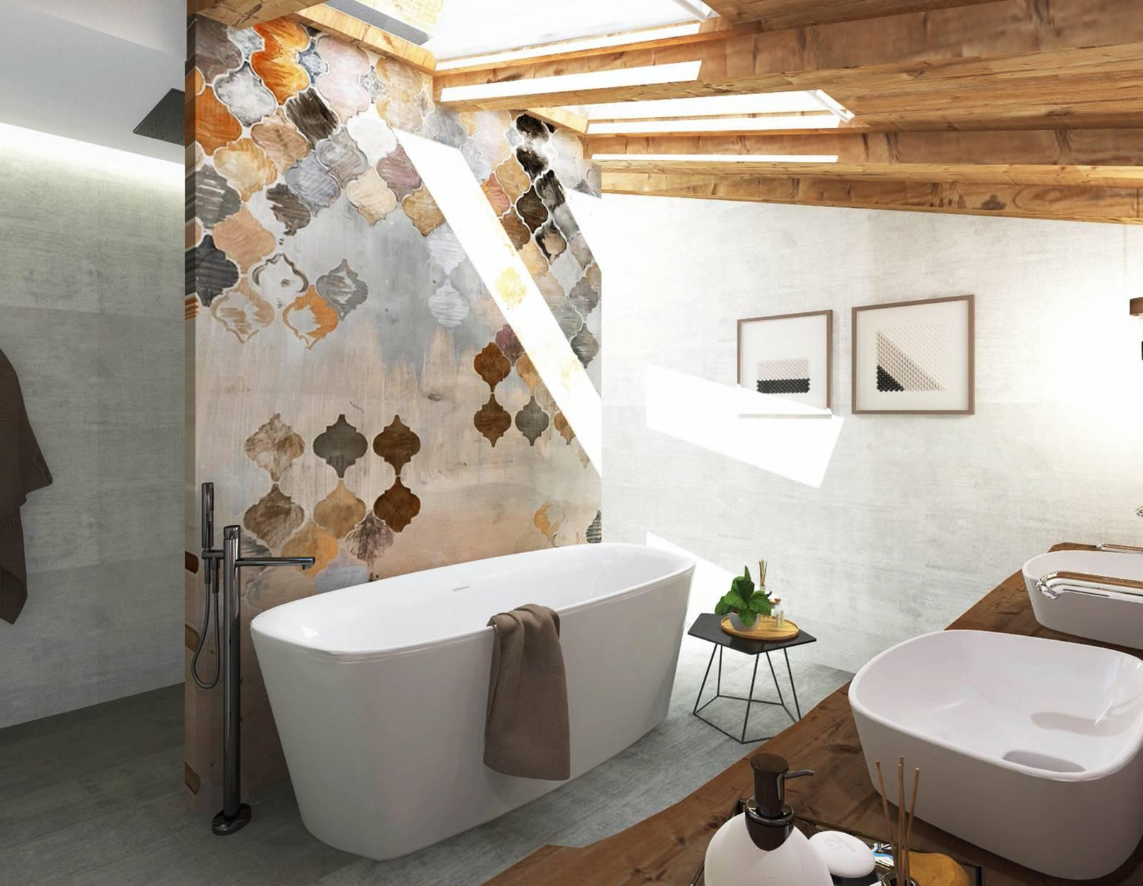 Quadri Per Bagno Moderno progetto bagno: in 10 mq la quinta decorativa organizza le