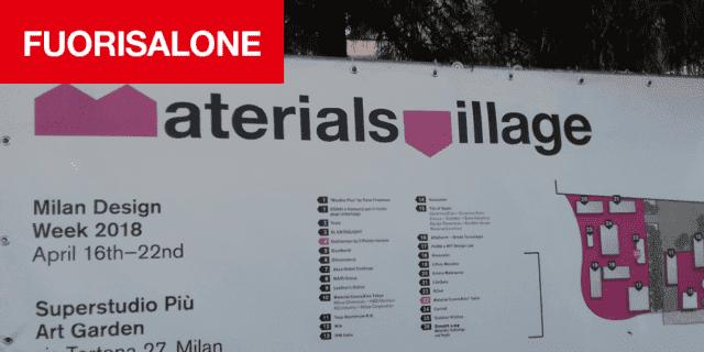Per Tortona Design Week, la 5° edizione di Materials Village al Superstudio Più