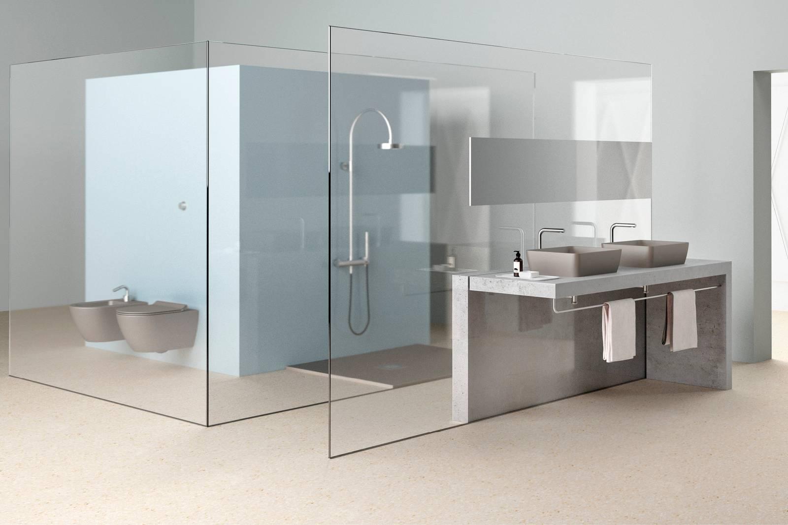 Bagno colore e finitura opaca per lavabi e sanitari color