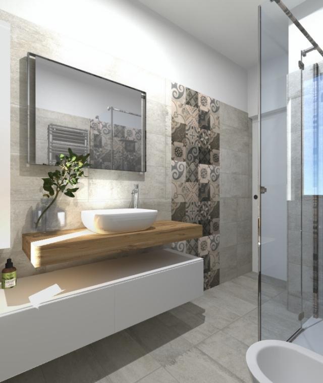 Progetto in 3d spostando la lavatrice e aggiungendo l - Cementine bagno ...