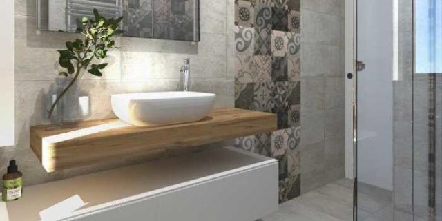 Progetto in 3D: spostando la lavatrice (e aggiungendo l'asciugatrice), il bagno ci guadagna!