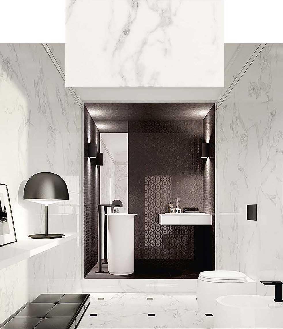 Rivestimenti Leroy Merlin Bagno bagno effetto marmo con i nuovi rivestimenti. tante