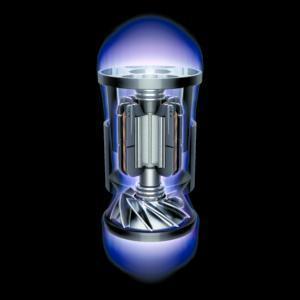 Rispetto al motore digitale Dyson V2 che aveva un design a due poli, il motore digitale Dyson V10 ne ha otto.
