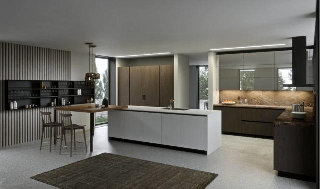 aran LAB13_15 cucina con frigorifero incassato