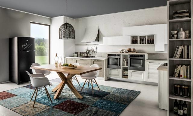 arrex FIORELLA cucina con frigo freestanding