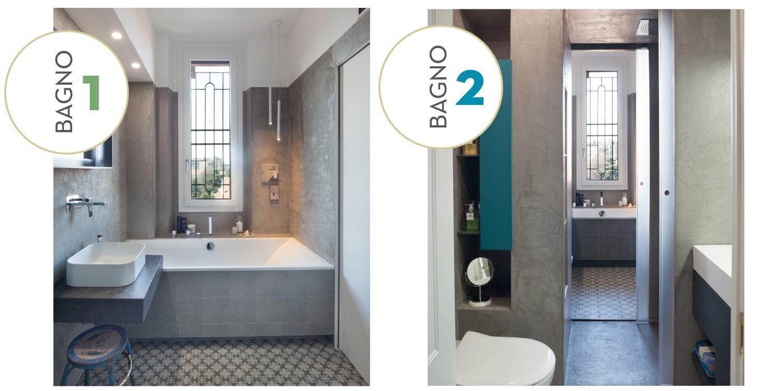 Ricavare due bagni da uno con doccia passante progetto e foto cose di casa - Planimetria bagno piccolo ...