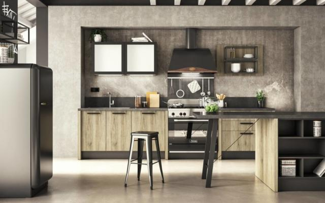 conforama Emma Factory cucina con frigo freestanding
