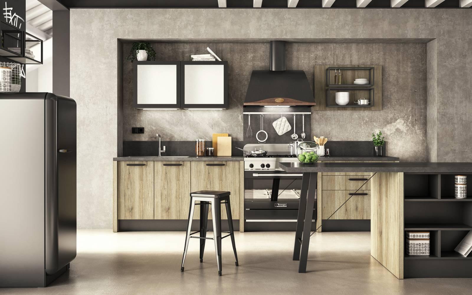 La cucina con il frigorifero freestanding un evergreen cose di casa - Conforama mobili ...
